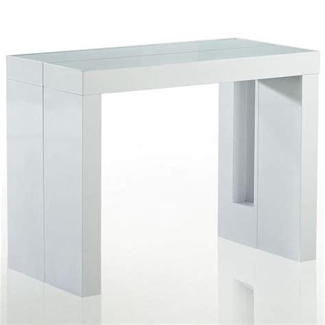 chambre opale blanc table console retractable