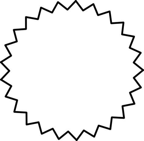 starburst outline black clip art  clkercom vector