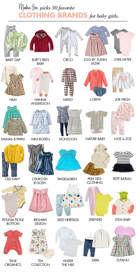 30 Clothing Brands For Baby Girls  Modern Eve