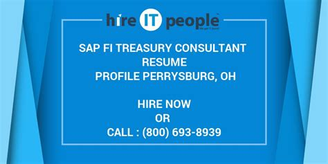 Asap Full Form In Sap by Sap Fi Treasury Consultant Resume Profile Perrysburg Oh