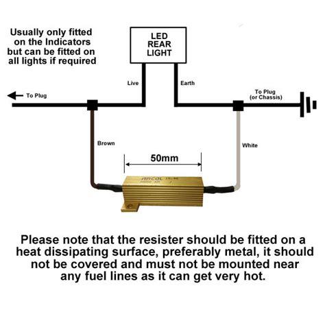 load ballast resistor for 12v led lights at western towing
