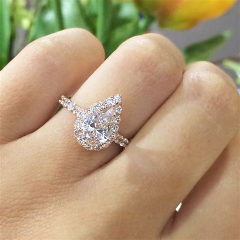 pear shaped halo engagement rings best 25 pear rings ideas on ring sale wedding jewellery