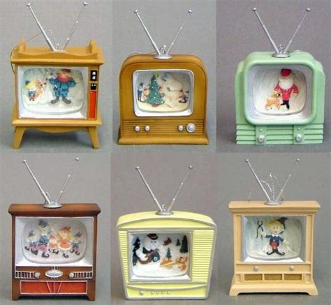 retro tv christmas ornaments