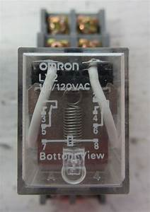 Omron Ly2 120 Vac Relay 2 Pole 1  2 Horsepower With Base 10 Amp