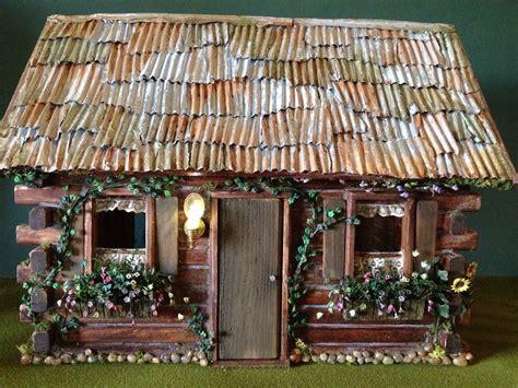fairytale log cabin front  fairytale fairy house dollhou flickr