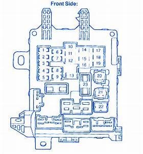 Honda Ballade 1991 Front Instrument Fuse Box  Block Circuit