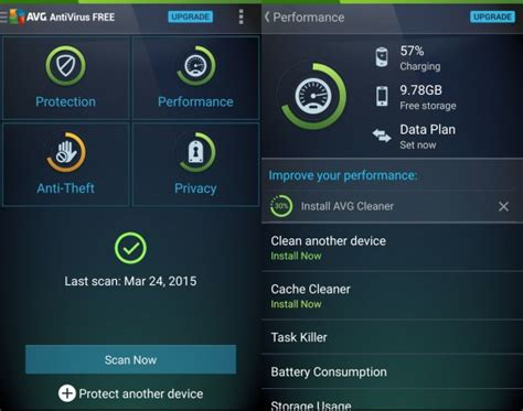 avg free antivirus for android best free android antivirus comparison