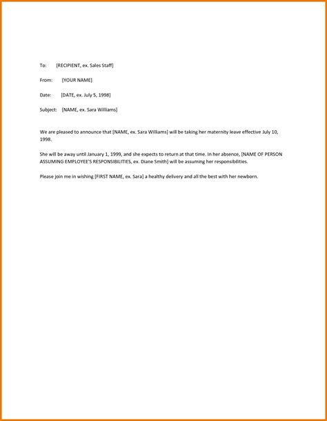 sample maternity leave letter employer the amazing as well as stunning maternity leave letter