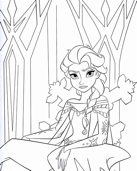 disneys frozen colouring pages cute kawaii resources