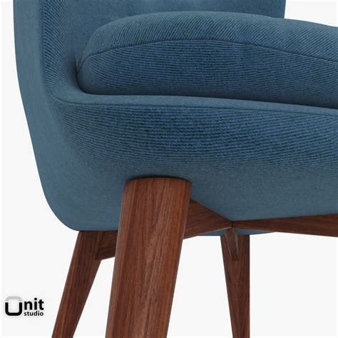 niels wing chair by west elm 3d model max obj 3ds dwg