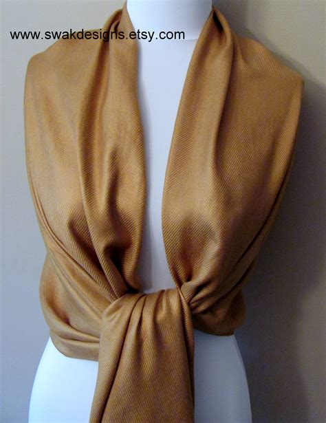 bronze gold pashmina scarf wedding shawl bridesmaid shawl  choose  color  storenvy