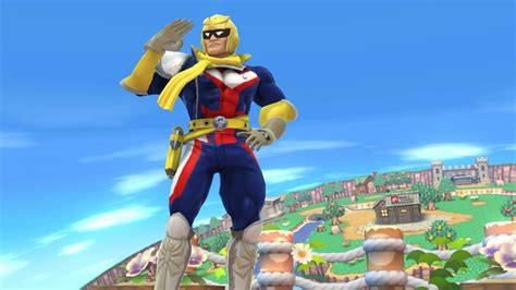 plus size all might smash bros for wii u skin mods