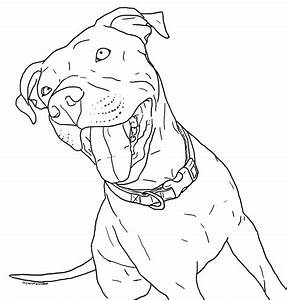 Pitbull Coloring Pages Printable - Coloring Home