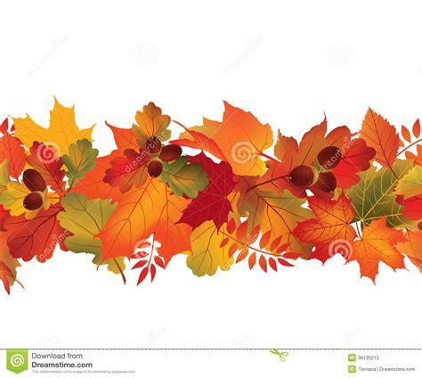 Floral Seamless Border Fall Decor Wallpaper Stock