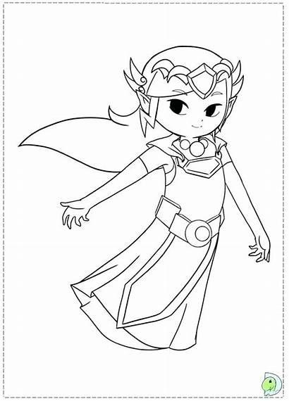Zelda Coloring Link Legend Pages Printable Wolf