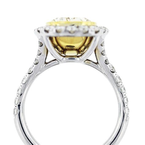 5 32ct fancy yellow oval cut engagement ring