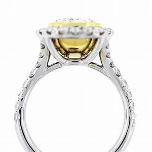 532ct fancy yellow oval cut diamond engagement ring With fancy diamond wedding rings