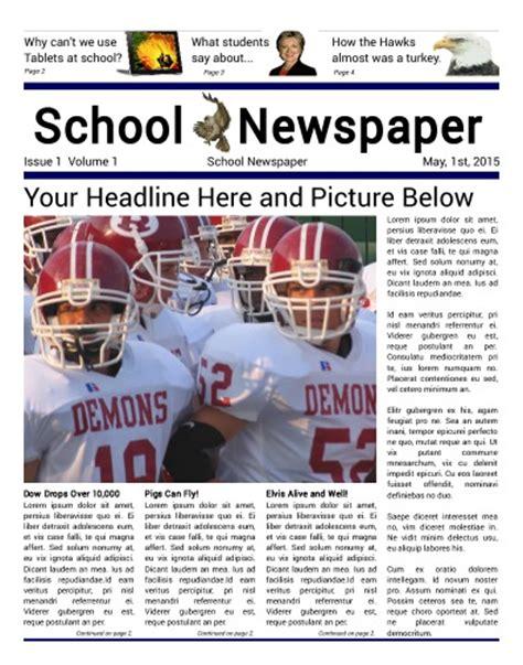 High School Newspaper Template by School Newspaper Print Publish And Design Headquarters