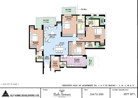 dlf park place park towers in sector 54 gurgaon buy