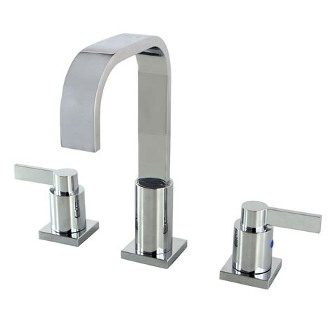 Polished Brass Bathroom Faucets Contemporary by Kingston Brass Modern 8 In Widespread 2 Handle High Arc