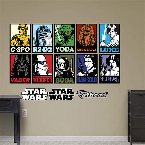 stickers wars mural fathead wars portraits mural