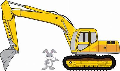 Cartoon Excavator Backhoe Clipart Transparent Clip Construction