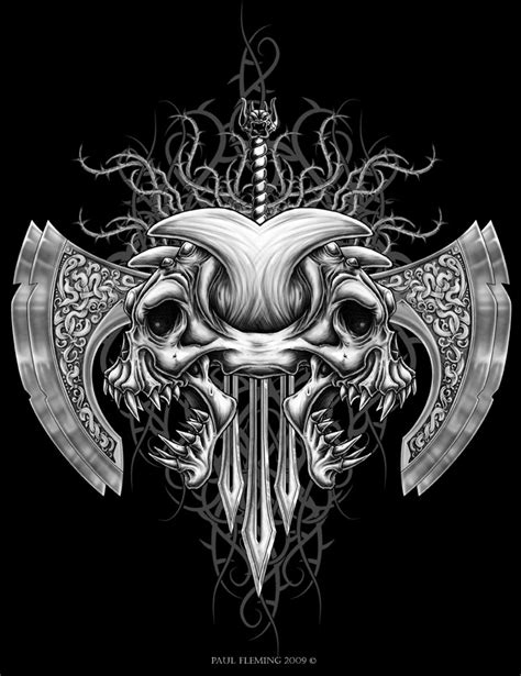 Tribal+Demon+Skull+by+Oblivion-design.deviantart.com+on+
