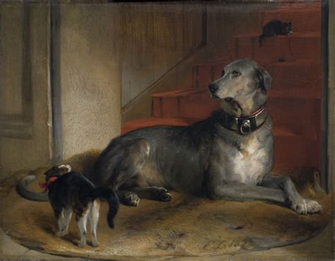 Lady Blessingtons Dog The Barrier Landseer Edwin