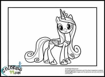 Coloring Princess Pony Pages Celestia Cadence Mlp