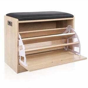 Meuble A Chaussure Banc : homfa tag re chaussures 3 niveaux meuble banc de rangement chaussure et salle de bain si ge ~ Preciouscoupons.com Idées de Décoration