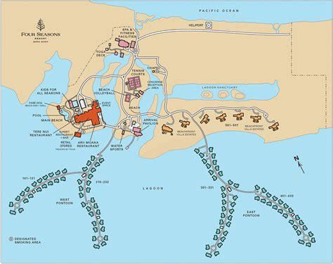 Bora Bora Map Monde by Bora Bora Resort Map Four Seasons Resort Bora Bora