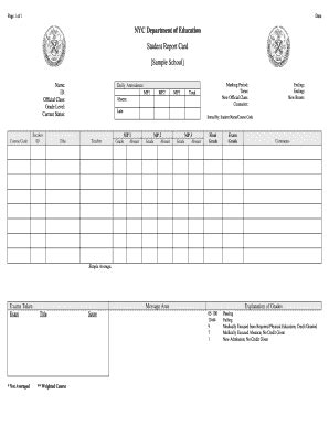 nyc high school report card template high school report cards fill printable