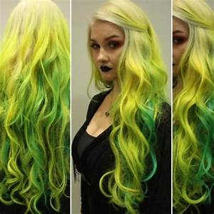 Blaue Haare Ombre : how to yellow to blue green ombre hair extensions creative fashion colors frisuren salon ~ Frokenaadalensverden.com Haus und Dekorationen