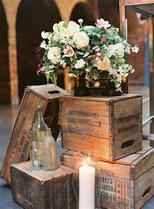 Wooden crates decor, wooden crates wedding ceremony