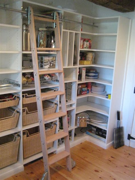 kitchen pantry design ideas pantry with ladder if i enough space for a walk in 5478