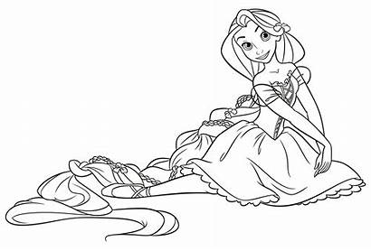 Rapunzel Coloring Disney Colorare Princess Disegni Tangled