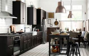 photos and inspiration large country kitchen cuisine ikea laxarby noir le des cuisines