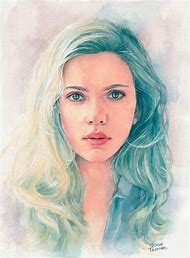 Watercolor Women Portrait Painting