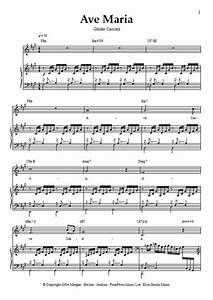 Ave Maria Sheet Music - Katherine Jenkins / Giulio Caccini ...