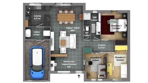 plan maison rdc 3 chambres plan maison rdc 3 chambres maison perspective maison