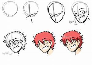 How i draw anime step-by-step by mangarainbow on DeviantArt