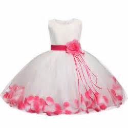 infant wedding dresses tutu flower baby dress for wedding sleeveless infant baby petal dresses for 1 years