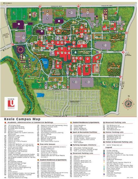 york university keele campus map map  york university