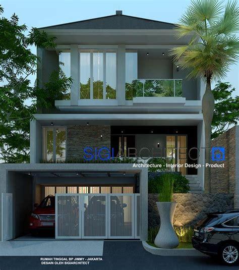 desain rumah modern minimalis 3 lantai lantai mezanin