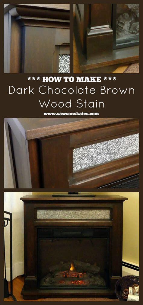 diy dark chocolate brown wood stain