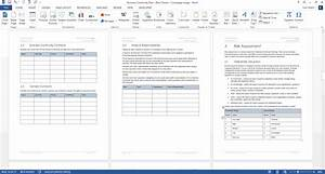 Planning Chart In Excel Business Continuity Plan Template Ms Word Excel