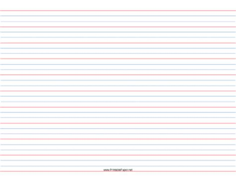 Printable 12 Rule, 14 Dotted, 14 Skip Handwriting Paper In Landscape Orientation