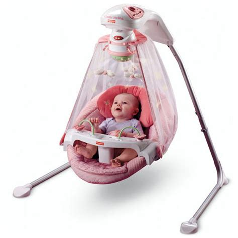 Which Baby Swings In by Fisher Price Papasan Cradle Swing Butterfly