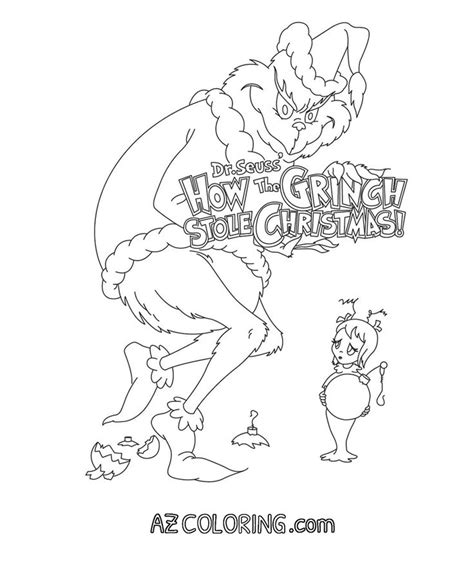 grinch coloring page grinch coloring pages cartoon