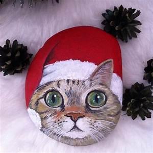 Steine Bemalen Katze : 100 kreative ideen f r steine bemalen in weihnachtsstimmung inneneinrichtung interior ~ Watch28wear.com Haus und Dekorationen
